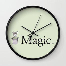 Magic Bunny Wall Clock