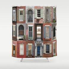 USA - Philadelphia - Windows Shower Curtain