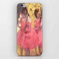 degas iPhone & iPod Skins featuring The Pink Dancers Before the Ballet by PureVintageLove