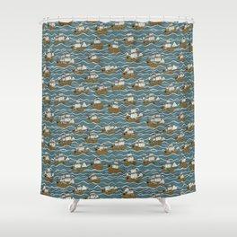Nautical but nice. Shower Curtain