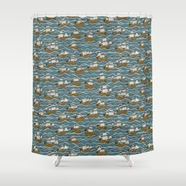 Nautical but nice. Shower Curtain