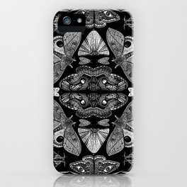 Moth Formations iPhone Case