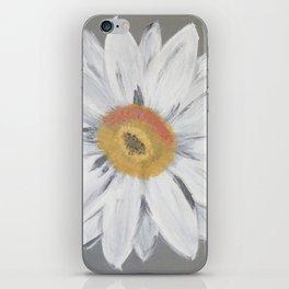 Daisy on Steel Grey iPhone Skin