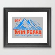 Visit Twin Peaks (orange) Framed Art Print
