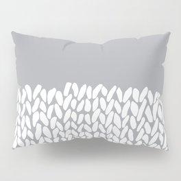 Half Knit Grey Pillow Sham