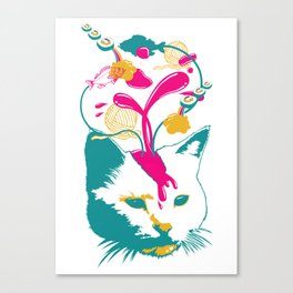 Liquid thoughts:Cat Canvas Print