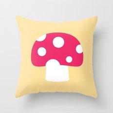 #55 Mushroom Throw Pillow