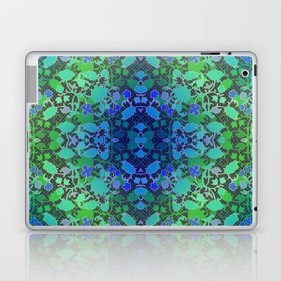 Lila's Flowers Repeat Blue Laptop & iPad Skin