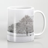 england Mugs featuring England Winter by Becky M