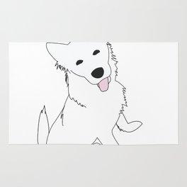 White Pupper Rug