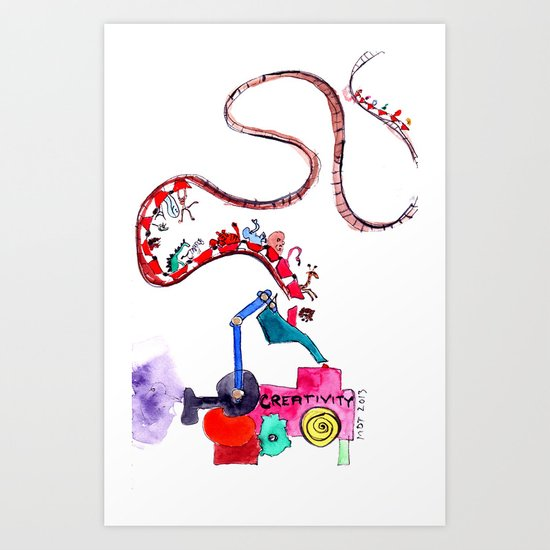 The Ups and Downs of Creativity Art Print