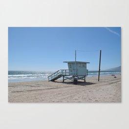 Malibu Beach Lifeguard Stand Canvas Print