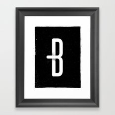B 001 Framed Art Print