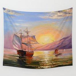 Boats Wall Tapestry