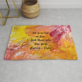 Set Your Life on Fire - Rumi Rug