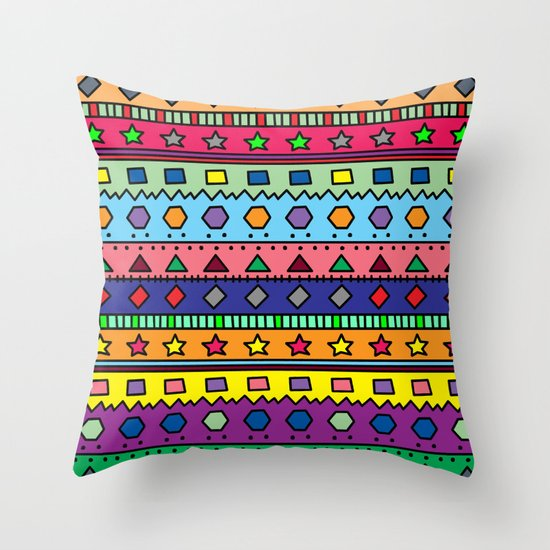 Throw Pillow Doodle : Doodle Throw Pillow by Kat Mun Society6