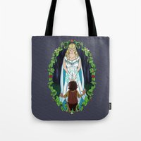 valar morghulis Tote Bags featuring The Light of Eärendil by Theresa Lammon