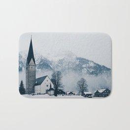 Christmas Winter Church (Color) Bath Mat