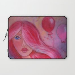 Whimsy Girl with Red Hair Laptop Sleeve