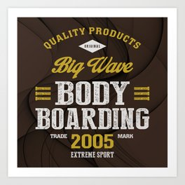 Bodyboarding Extreme Sport Art Print