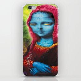 Blue Mona iPhone Skin