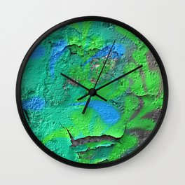 Green Entropy II Wall Clock