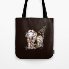 Elephant Mom Tote Bag