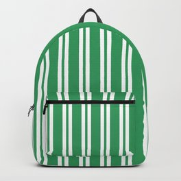 Kelly Green and White Wide Small Wide Stripes Backpack