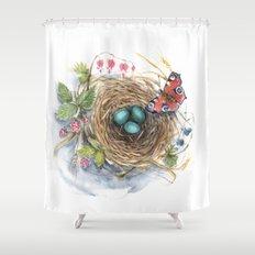 Robin's Nest Shower Curtain