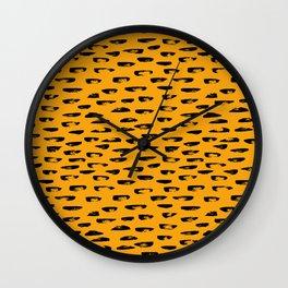 Hand drawn leopard pattern Wall Clock