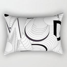 History of Art in Black and White. Postmodern Rectangular Pillow