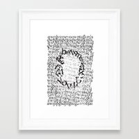 letters Framed Art Prints featuring Letters  by Enver Yigit