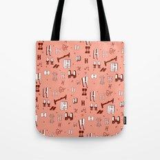 Letter Patterns, Part H Tote Bag