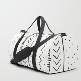Moroccan Stripe in Cream and Black Duffle Bag