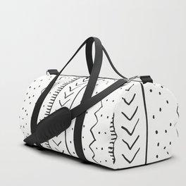 Moroccan Stripe in Cream and Black Duffle Bag