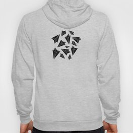 Paper Airplanes Black Hoody
