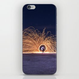 Steel sparkle ring made at night in a saline iPhone Skin
