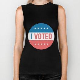 I voted sticker #society6 #decor #buyart #artprint Biker Tank