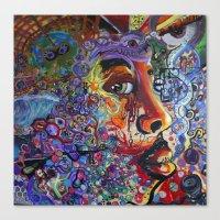 "phil jones Canvas Prints featuring ""Jones"" by Mike Hooper Art"