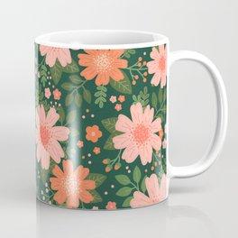 Coral Daisy Coffee Mug