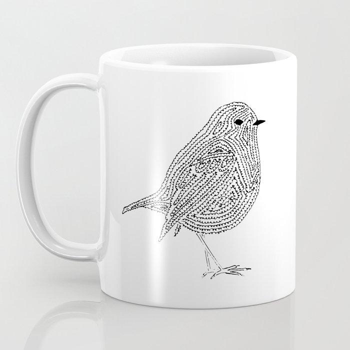 A minimalist Robin Coffee Mug