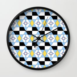 symetric patterns 46 -mandala,geometric,rosace,harmony,star,symmetry Wall Clock
