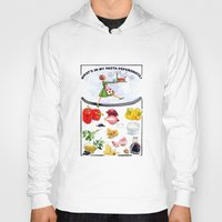 pasta Hoodies featuring WHAT'S IN MY PASTA PEPERONATA? by Colette van der Wal