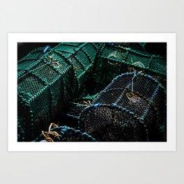 Lobster Pots Art Print