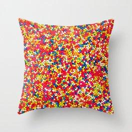 Round Sprinkles Throw Pillow