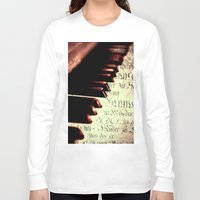piano Long Sleeve T-shirts featuring piano by Falko Follert Art-FF77