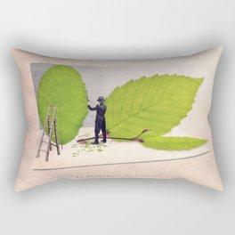 The leave cutter Rectangular Pillow