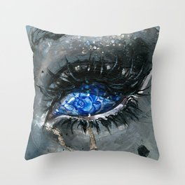Gzhel Throw Pillow
