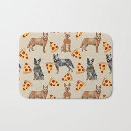 Australian Cattle Dog pizza slice pet friendly dog breed dog pattern art Bath Mat