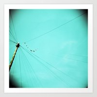 the wire Art Prints featuring Wire by Cassia Beck